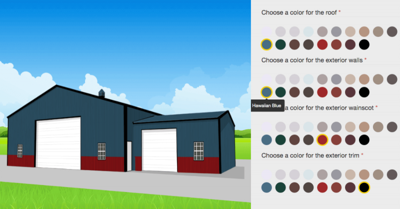 The Metal Building Customizer from Lucas Metal Works
